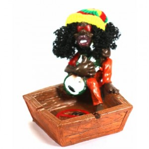 CERAMIC ASHTRAY RASTA MAN WITH BOWL