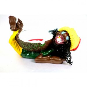 CERAMIC ASHTRAY SLIPPY MAN RASTA