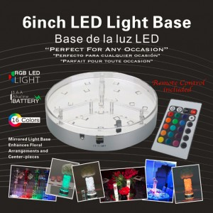 16 COLORS LED LIGHT BASE FOR LOOKAH GLASS WITH REMOTE CONTROL
