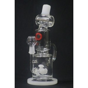 WATER PIPE WITH GLASS GEAR INSIDE