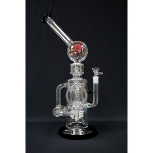 "LOOKAH 17"" GLASS SHOWERHEAD RECYCLER WATER PIPE"