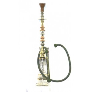 KHALIL MAMOON 2086 EGYPTIAN FLAG 2 DOOR HOOKAH