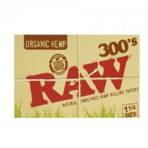 RAW ORGANIC HEMP 300'S 1-1/4SIZE PAPERS