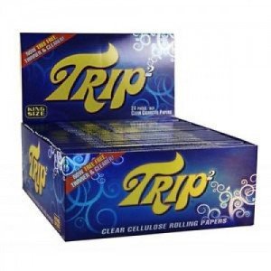 TRIP2 1-1/4 SIZE CLEAR CELLULOSE ROLLING PAPERS