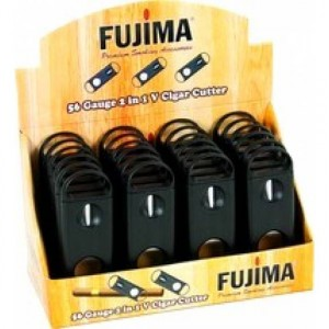 FUJIMA 56 GAUGE 2 IN 1 V CIGAR CUTTER 24 CT